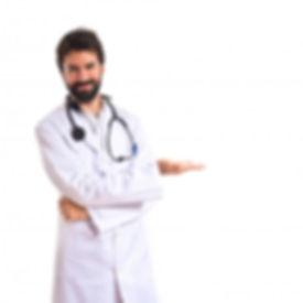 doutor-apresentando-algo-sobre-fundo-bra
