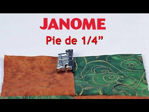 "Pie de 1/4"""
