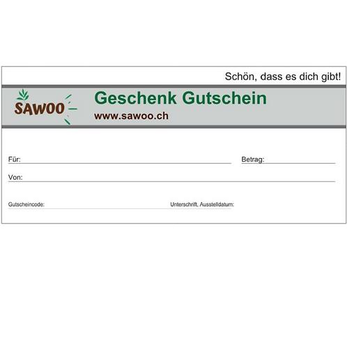 SAWOO - Geschenkgutschein Warenwert selbst wählbar