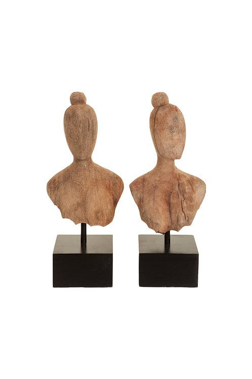 Ladies head sculpture