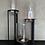 Thumbnail: Windlicht zwart/helder glas L