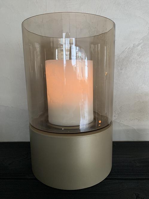 Windlicht topaz glas/goud