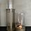 Thumbnail: Windlicht mini topaz glas goud