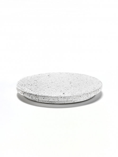 Plateau rond wit terrazzo