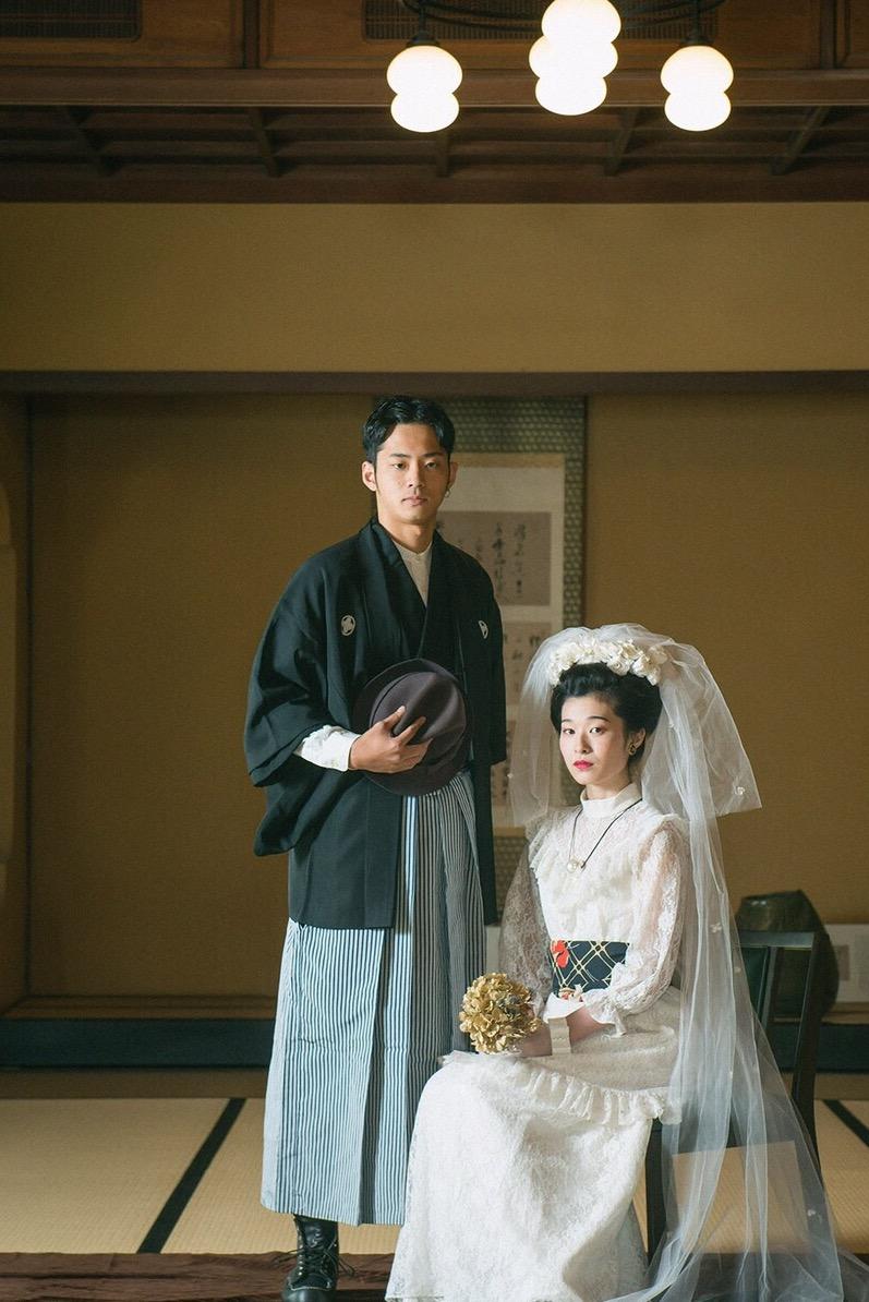 北九州 着物レンタル 着付け mugi オシャレ KABURE フォト婚