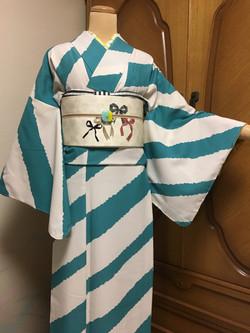 北九州 着物レンタル 着付け mugi 可愛い オシャレ 小紋 ふりふ