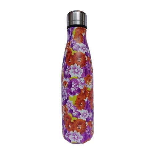 Steel Water Bottle 500ml Floreado