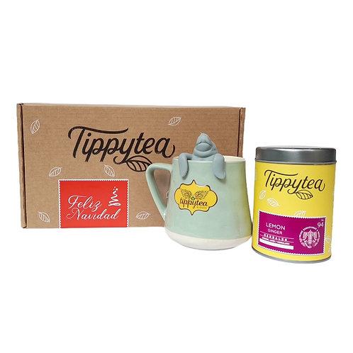 Combinación #23 - Jarro cerámica + Lata 50gr de té + Infusor Manatea