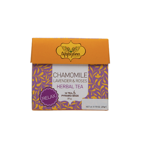 Chamomile Lavander & Roses Tea Pyramid Bag