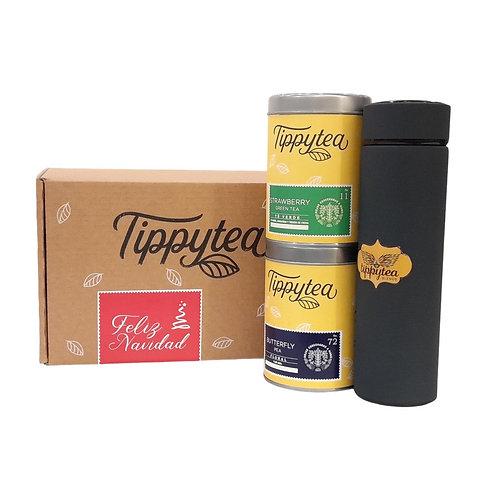 Combinación #13 - Termo colores + 2 Latas 50 gr de té