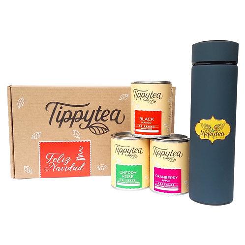 Combinación #40 -  3 Lata de 50 gr de té + Termo colores