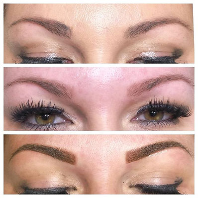 Top_ With her everyday brow makeup _Midd