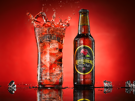 Koppaberg mixted fruit cider product and commercial photography