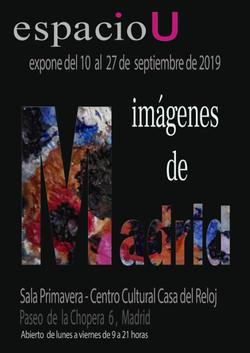 cartel exposición imágenes de Madrid