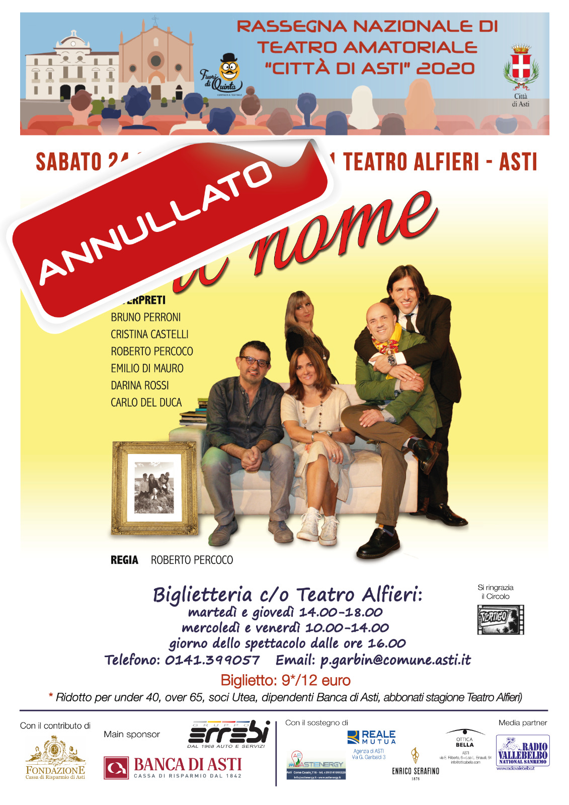 IL NOME 24-10 ANNULLATO