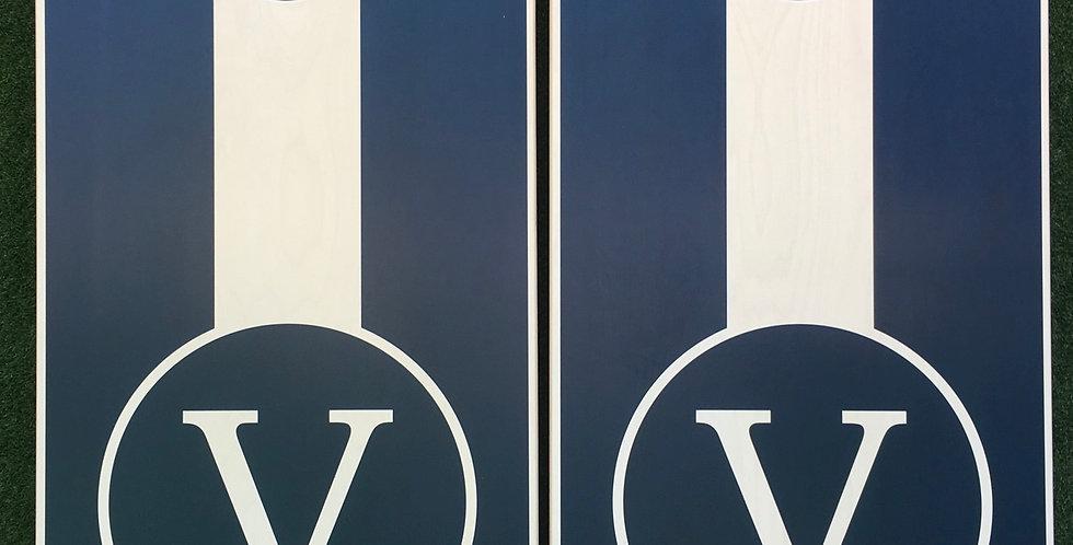Cornhole Game-Navy Monogram