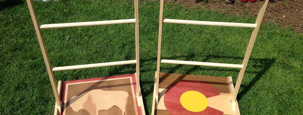 Rustic Colorado/Wyoming Flag Ladder Golf