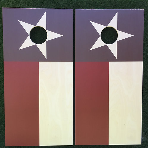 Cornhole Game-Rustic Texas Flag