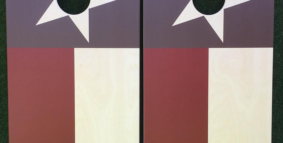 Cornhole Game-Rustic Texas Flag