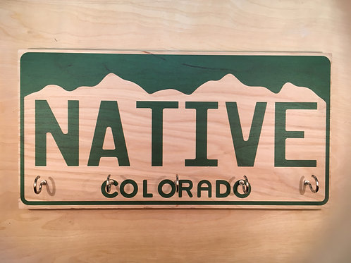 Native Colorado License Plate Key Holder