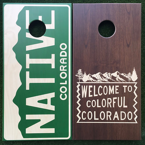 Cornhole Game-Native Colorado/Colorful Colorado