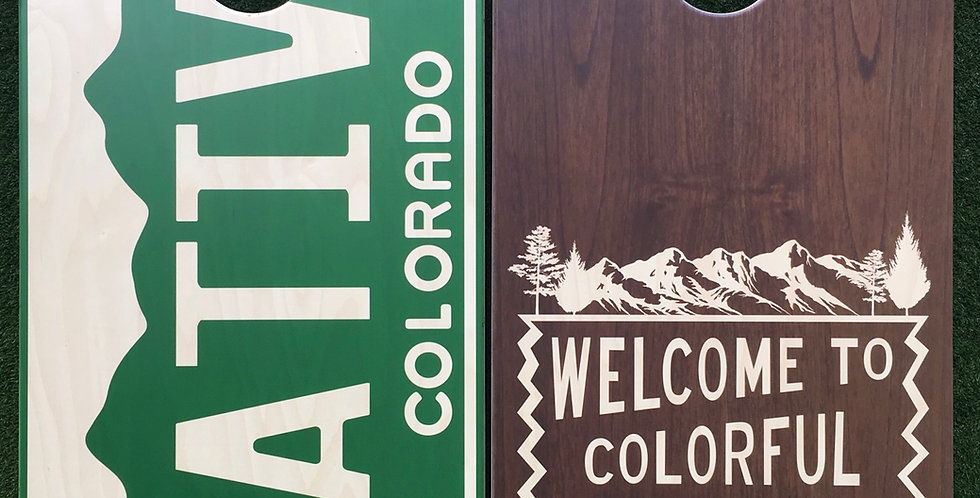 Cornhole Game-Native Colorado/Colorful Colorado