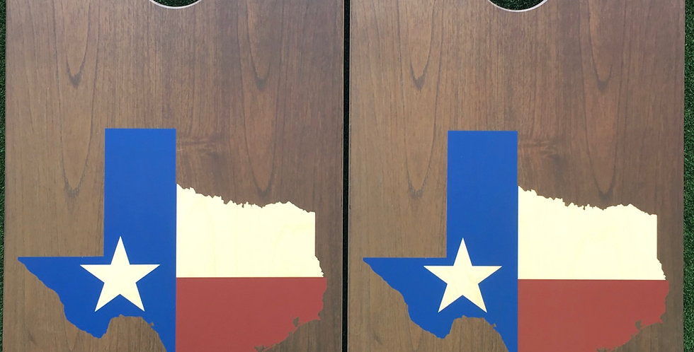 Cornhole Game-Rustic Texas State