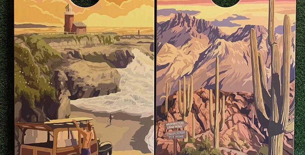 Cornhole Game-California and Arizona Scenic