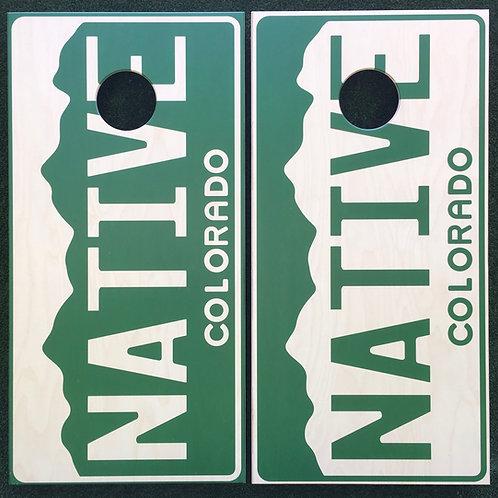Cornhole Game-Native License Plates