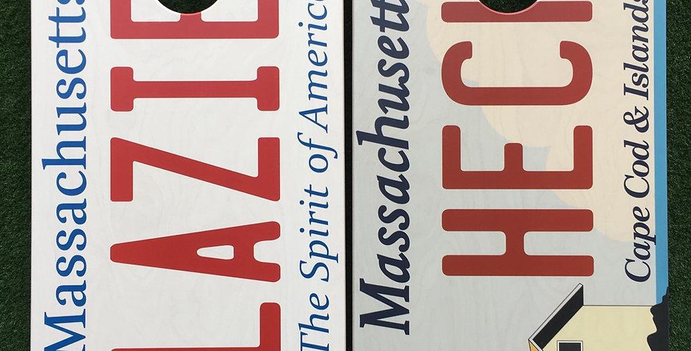 Cornhole Game-Massachusetts License Plates