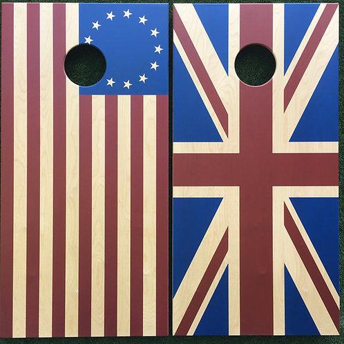 Cornhole Game-Betsy Ross and Union Jack Revolutionary War Set