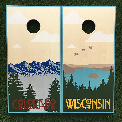 Cornhole Game-Wisconsin and Colorado