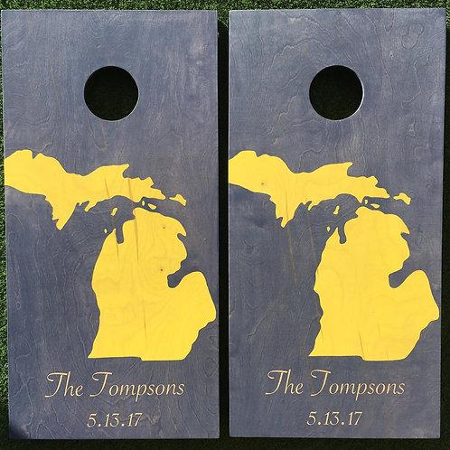 Cornhole Game-Michigan Navy and Maize