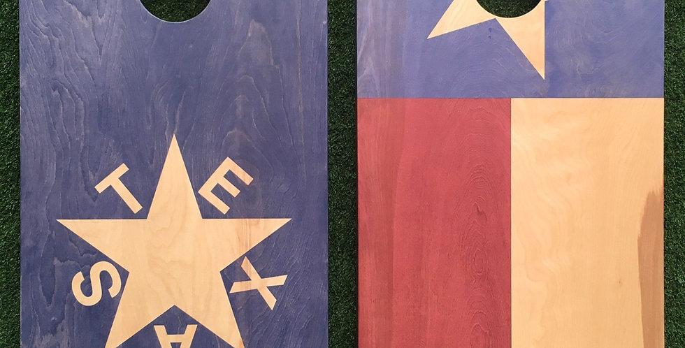 Cornhole Game-Republic of Texas and Texas Flags
