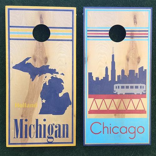 Cornhole Game-Michigan and Chicago