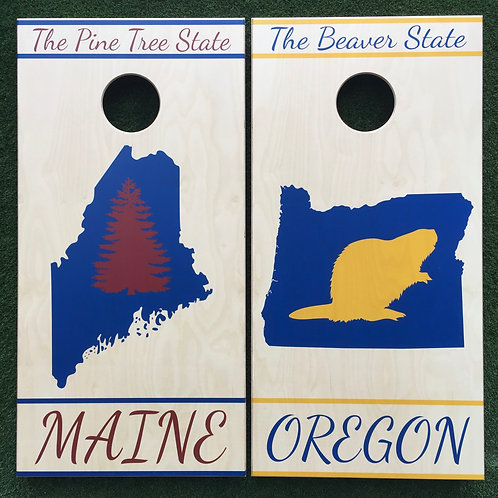Cornhole Game-Maine and Oregon Pride