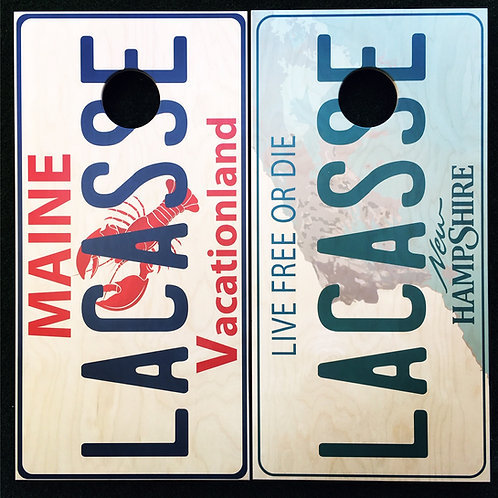 Cornhole Game-Maine and New Hampshire License Plate