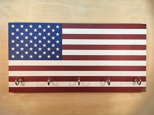 American Flag Key Holder