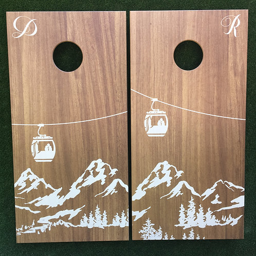 Cornhole Game-Winter Wedding
