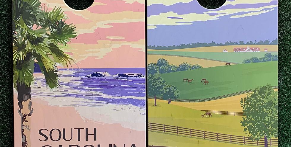 Cornhole Game-South Carolina and Kentucky