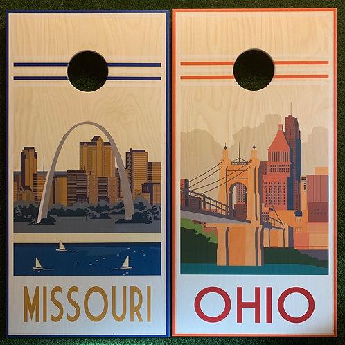 Cornhole Game-Missouri and Ohio