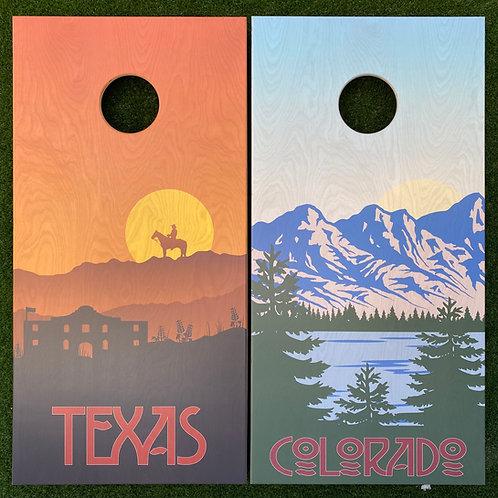 Cornhole Game-Texas and Colorado