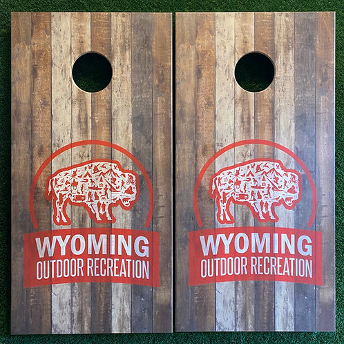 Cornhole Game-Your Logo on Reclaimed Wood