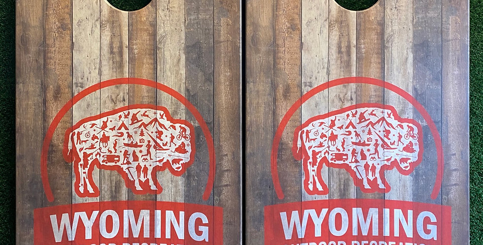 Cornhole Game-Your Logo on Reclaimed Wood
