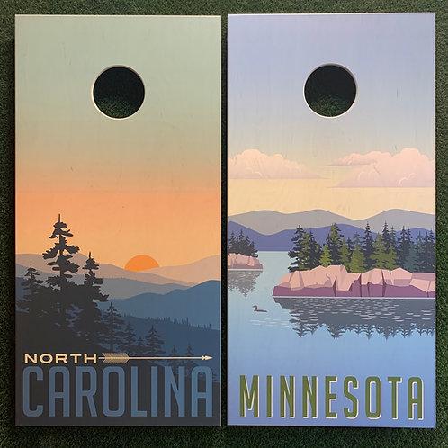 Cornhole Game-North Carolina and Minnesota