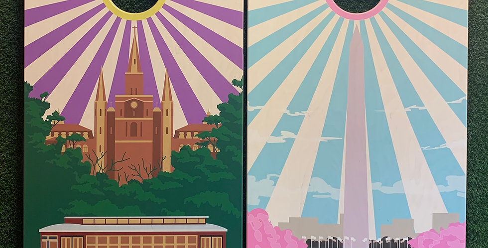 Cornhole Game-New Orleans and Washington D.C.