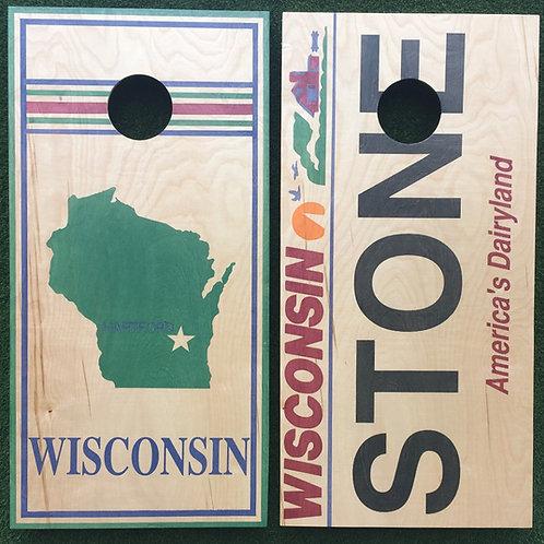 Cornhole Game-Wisconsin Love