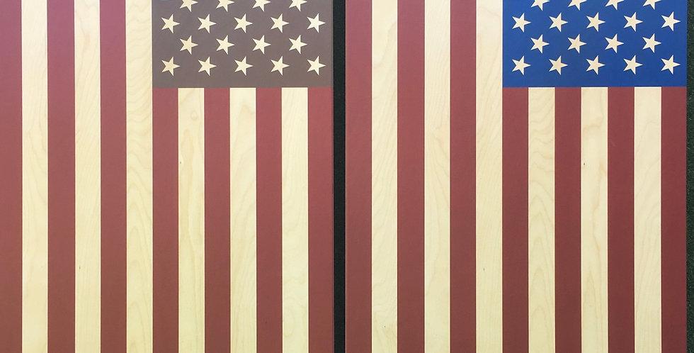 Cornhole Game-American Flag Rustic/Classic Combo