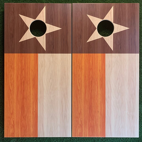 Cornhole Game-Longhorn Texas Flag
