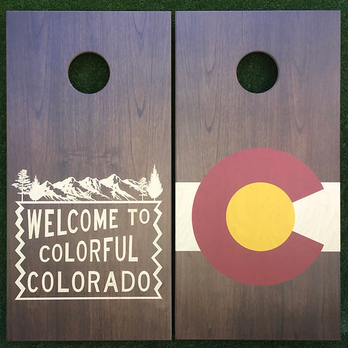 Cornhole Game-Welcome to Colorful Colorado and Rustic Colorado